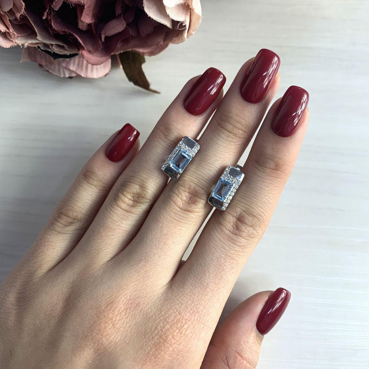 Срібні сережки pSilverAlex з натуральним топазом (2028369)