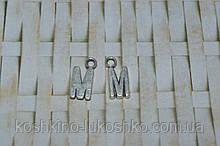 Підвіска буква M. метал. англійський алфавіт