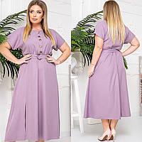 Женское летнее платье миди больших размеров 42-56