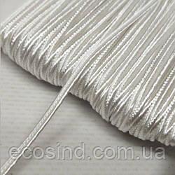 Цвет белый шнур сутажный плоский 3мм, моток 46м. (СИНДТЕКС-1098)