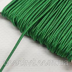 Цвет зеленый шнур сутажный плоский 3мм, моток 46м. (СИНДТЕКС-1101)