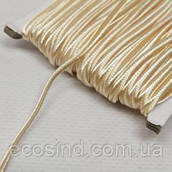 Цвет карамельный шнур сутажный плоский 3мм, моток 46м. (СИНДТЕКС-1104)