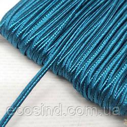 Цвет морская волна шнур сутажный плоский 3мм, моток 46м. (СИНДТЕКС-1106)