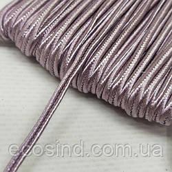 Цвет пыльная роза шнур сутажный плоский 3мм, моток 46м. (СИНДТЕКС-1109)