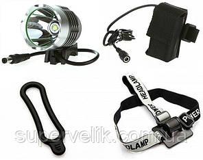 Велофара с ярким светодиодом CREE XML-T6 велофонарь ( фара, фонарь)