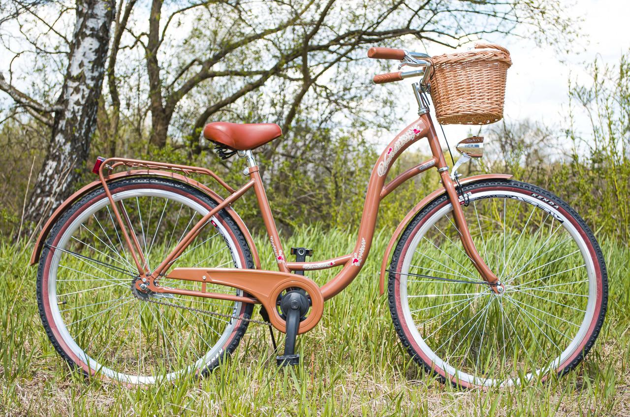 Велосипед женский городской VANESSA 28 Choko с корзиной Польша