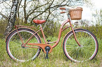 Велосипед жіночий міський VANESSA 28 Choko з кошиком Польща