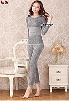 Женское термобелье, модальное кружевное белье (серое)