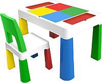 Детский столик и стульчик 5 в 1 Мультиколор, фото 1