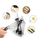 Точилка Ручная настольная для кухонных ножей Bevorien Edge knife бытовая ножеточка, фото 3