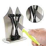 Точилка Ручная настольная для кухонных ножей Bevorien Edge knife бытовая ножеточка, фото 4