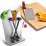 Точилка Ручная настольная для кухонных ножей Bevorien Edge knife бытовая ножеточка, фото 6