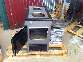 Твердотопливный котел Буржуй КП-18 3 мм с плитой БЕСПЛАТНАЯ ДОСТАВКА, фото 2