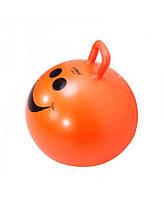Мяч для фитнеса детский LiveUP Hopping с ручкой 45 см Orange (LS3220)