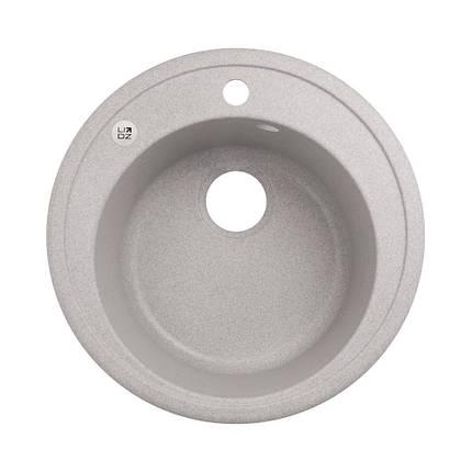 Кухонна мийка Lidz D510/200 GRA-09 (LIDZGRA09D510200), фото 2