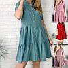 Р 42-52 Вільний літнє плаття-сорочка в горох Батал 23830-1