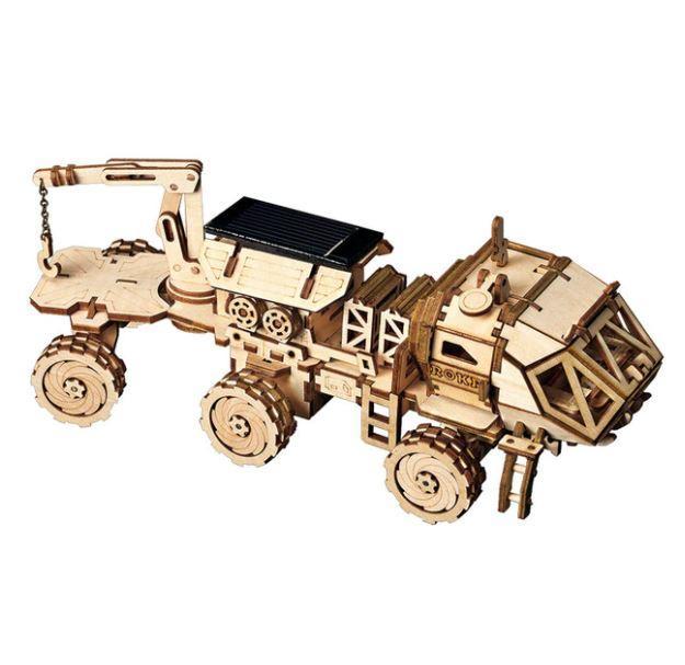 Дерев'яний 3D конструктор Rokr Robotime - Марсохід - 203 деталі