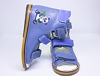 Антиварусні ортопедичні блакитні босоніжки для хлопчика