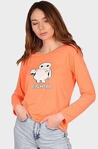 Батник женский Big Hero оранжевый AAA 127771P