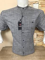 Лляна сорочка (model 510) з коротким рукавом G-port