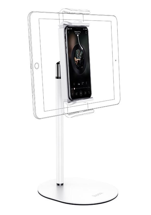 Настольный держатель-подставка для телефона (планшета) Hoco PH31 Metal Desktop Stand Белый (PH31)