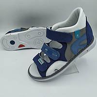 Ортопедичні босоніжки Веветом для хлопчика 31-36 розміри, фото 1
