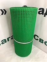 Паркан садовий пластиковий .Осередок 10х10 мм, рул. 0,5х20 м (зелена).