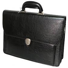 Мужской деловой портфель из эко кожи 4U Cavaldi черный, фото 3