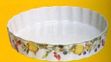 Форма круглая из жаропрочного фарфора 28 см