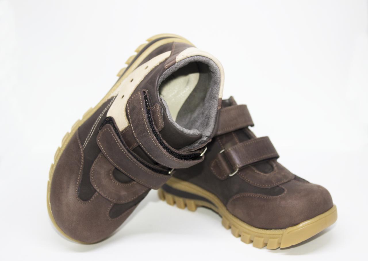 Ортопедичні дитячі чоботи коричневі 28