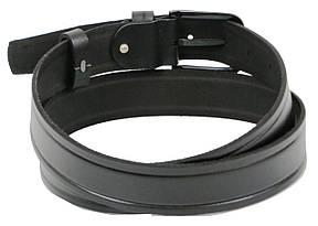 Мужской кожаный ремень под джинсы Skipper 1262-38 черный 3,8 см, фото 3