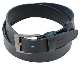 Мужской кожаный ремень под джинсы Skipper 1258-45 синий 4,5 см