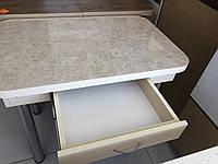 Стіл кухонний з шухлядою на хром-ногах, фото 1