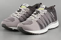 Кросівки унісекс жіночі сірі Bona 643M-2 Бона сітка літні Розміри 38 39 41, фото 1