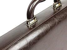 Мужской портфель из эко кожи Jurom 0-30-112 коричневый, фото 3