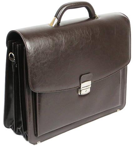 Великий чоловічий портфель з шкірозамінника Jurom Польща 0-36-112, фото 2