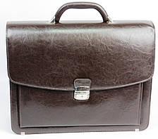 Великий чоловічий портфель з шкірозамінника Jurom Польща 0-36-112, фото 3