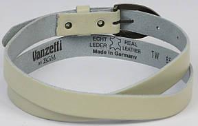 Узкий женский ремень Vanzetti, Германия, 100289 бежевый, 2х102 см, фото 2