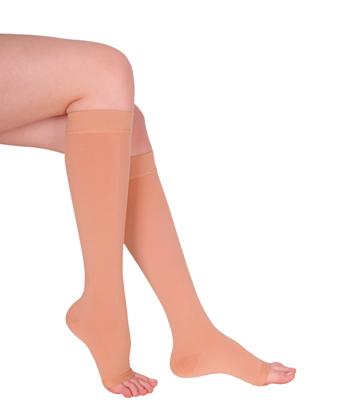 Противарикозні панчохи 2 класу компресії Variteks до колін з відкритим носком 5