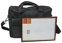 Сумка-портфель з натуральної шкіри A-art TSL17-1 сіра, фото 2