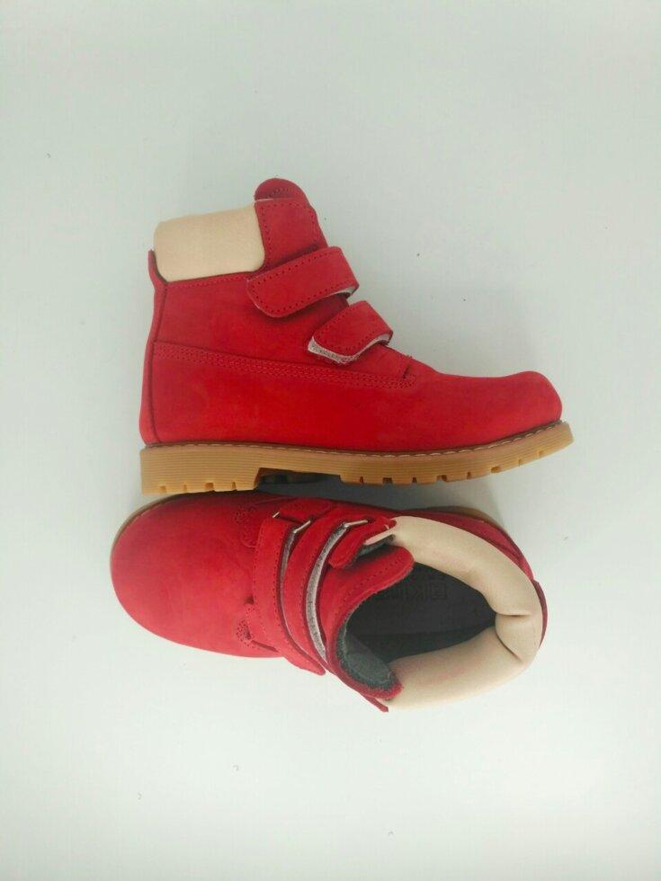 Ортопедичні дитячі черевики червоні 28