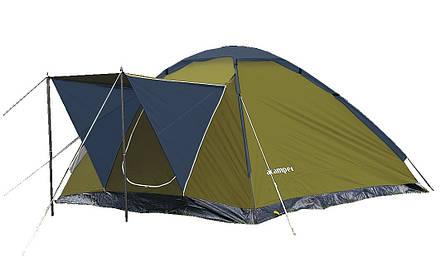 Палатка кемпінгові 4-х місцева Presto Acamper MONODOME 4 PRO - 3000мм. Н2О - 2,8 кг. з тамбуром Зелений, фото 2