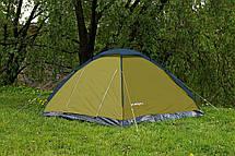 Палатка кемпінгові 4-х місцева Presto Acamper MONODOME 4 PRO - 3000мм. Н2О - 2,8 кг. з тамбуром Зелений, фото 3