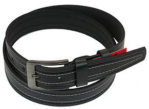 Мужской кожаный ремень под джинсы Skipper 1092-38 черный 3,8 см, фото 2