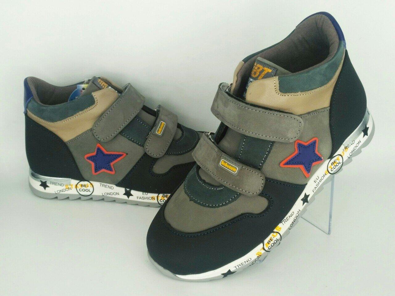 Ортопедичні дитячі кросівки на флісі Bebetom для хлопчика 34