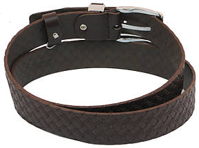 Мужской кожаный ремень под брюки Skipper 1138-35 коричневый 3,5 см, фото 2