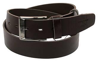 Мужской кожаный ремень под джинсы Skipper 1155-45 темно-коричневый 4,5 см, фото 2