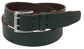 Мужской кожаный ремень под джинсы Skipper 1190-45 зеленый 4,5 см, фото 2