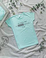 Женская мятная футболка Infinite