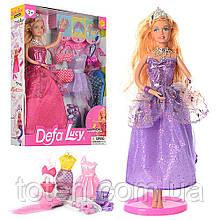 Кукла с нарядом DEFA 8269 29см, наряды 3шт, аксессуары, 2 вида
